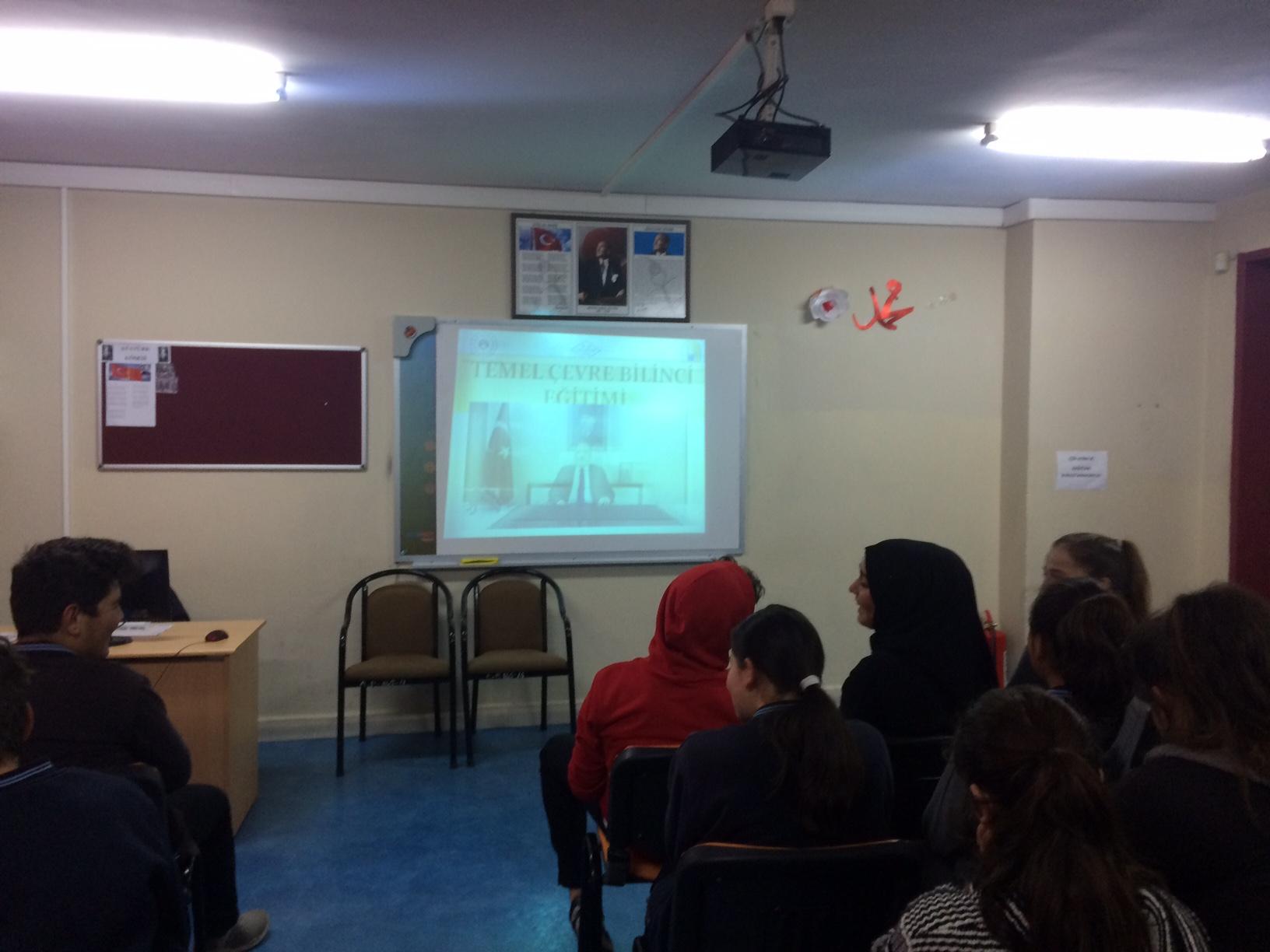 Ulus Şehit Erkan Yalçın Anadolu Lisesi'nde Sıfır Atık Konulu Eğitim Verildi