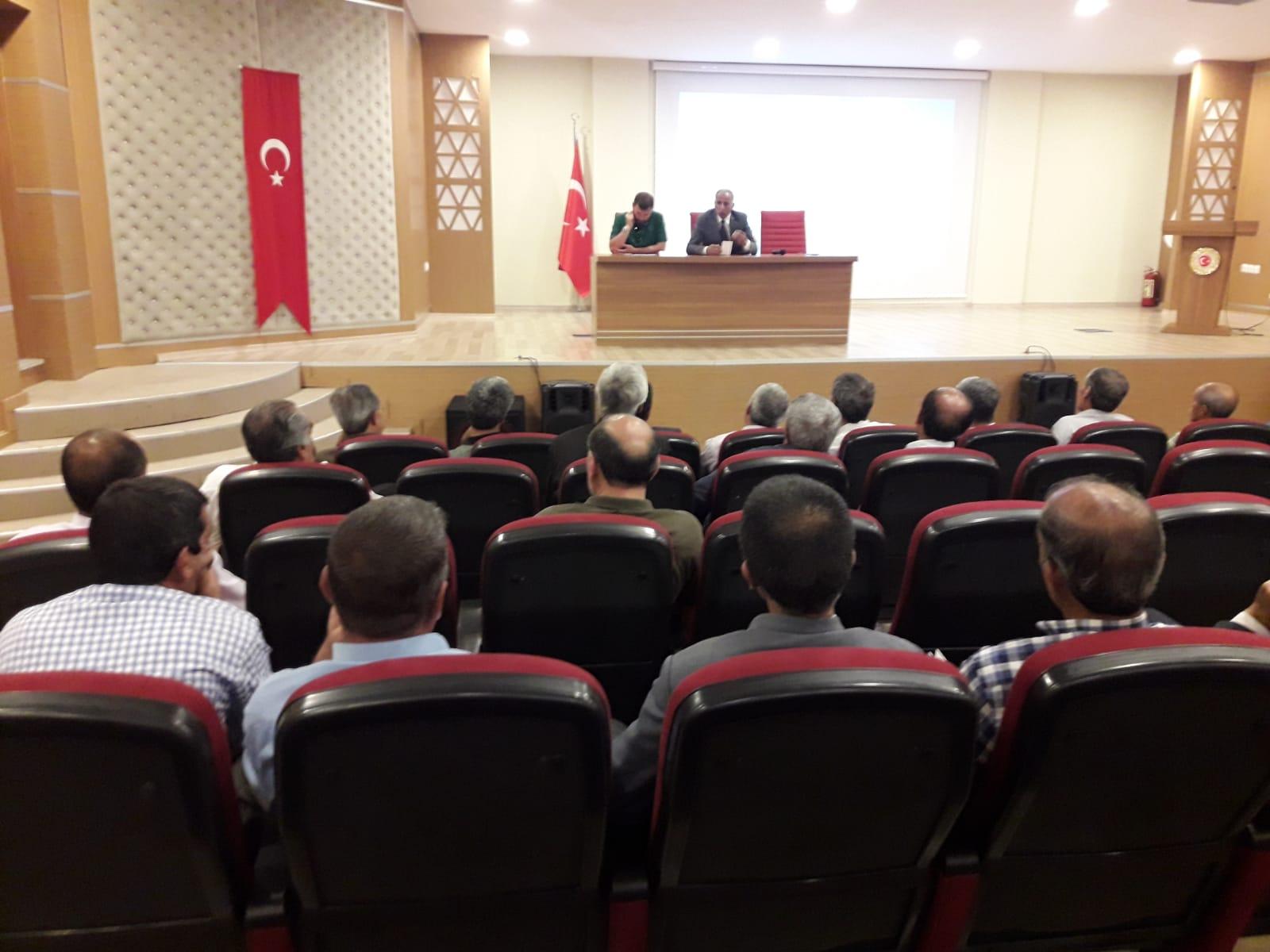 İlçe ve Köy Muhtarlarına Yönelik İmar Barışı Bilgilendirme Toplantısı