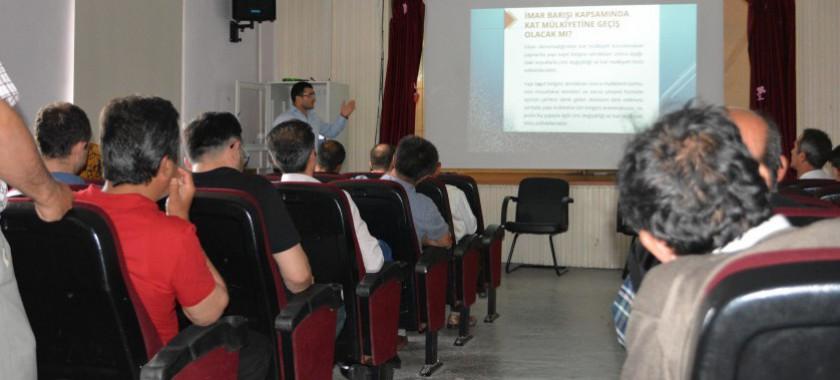 Kıbrısçık İlçemizde İmar Barışı Bilgilendirme Toplantısı