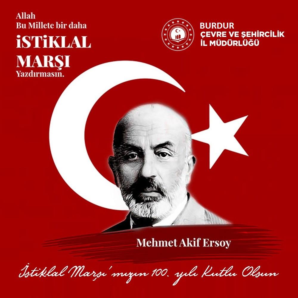 12 Mart İstiklal Marşının Kabulü ve Mehmet Akif Ersoy'u Anma Günü Mesajı