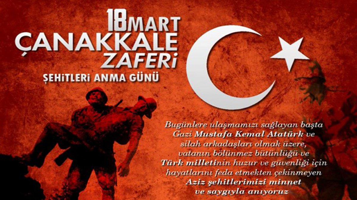 18 Mart Çanakkale Zaferi ve Şehitleri Anma Günü Mesajı