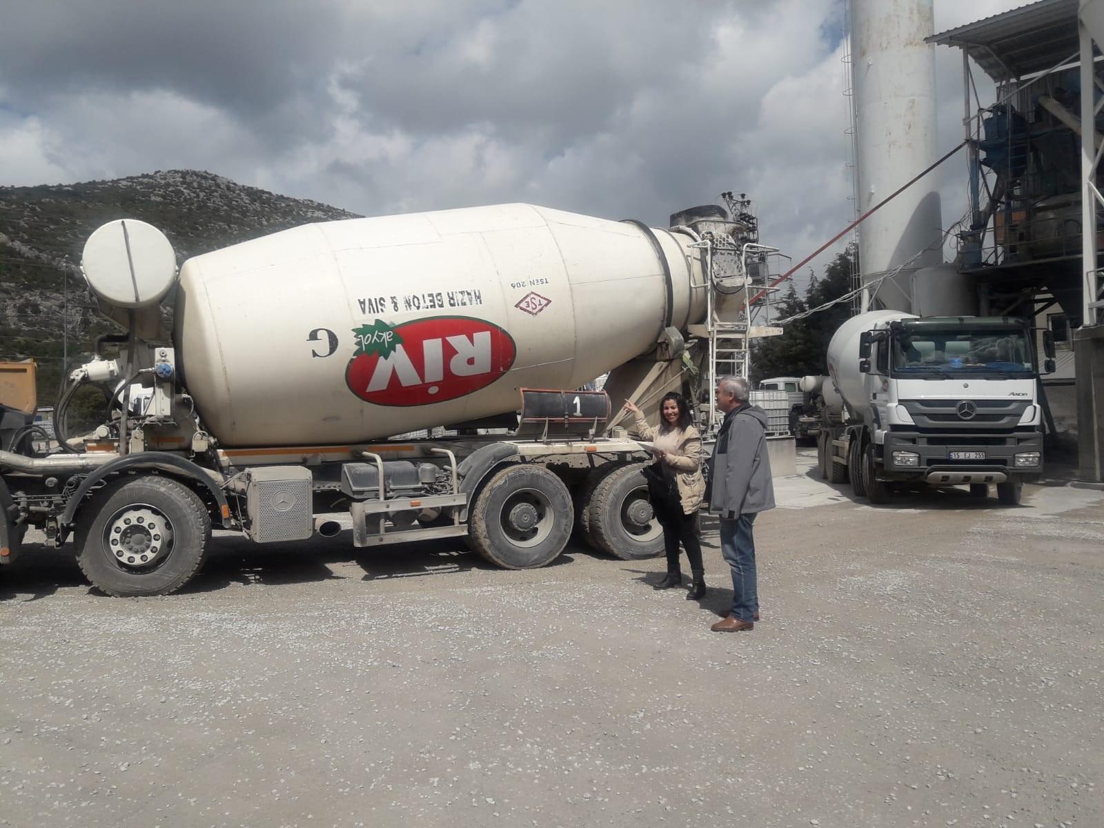 Hazır beton santral denetimlerimiz devam etmektedir