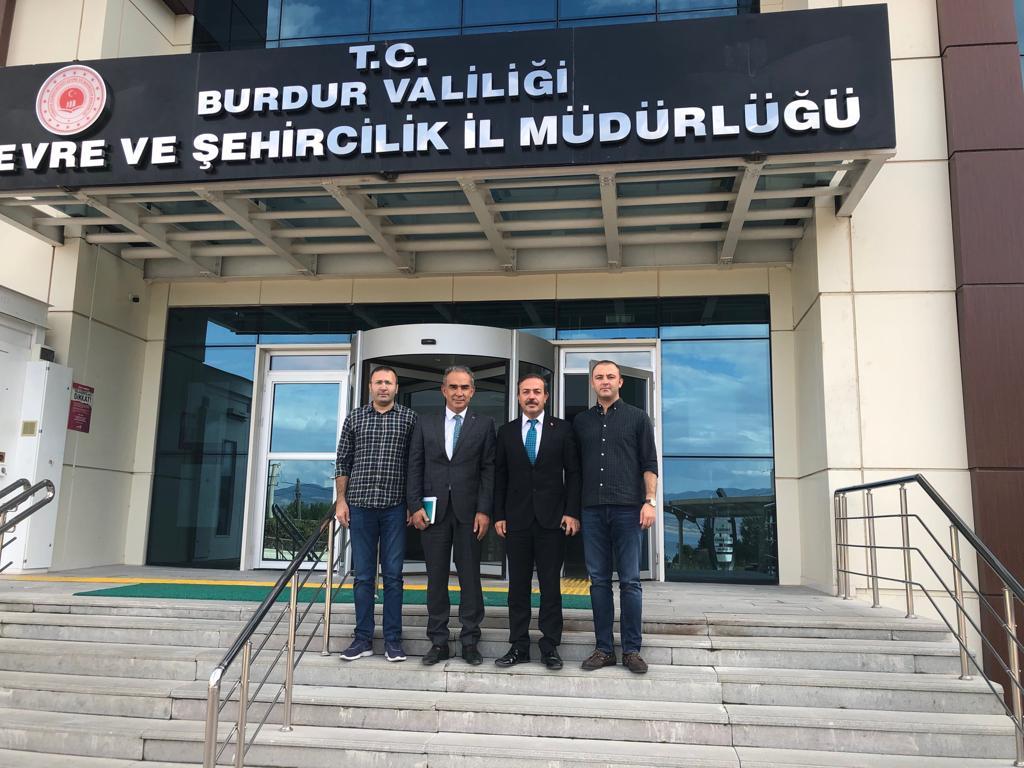 Tabiat Varlıkları Koruma Genel Müdürlüğü, Araştırma ve Tescil Daire Başkanımız Sayın Ümit TURAN ile Ankara' dan gelen teknik ekip, İl Müdürlüğümüzü ziyaret ettiler