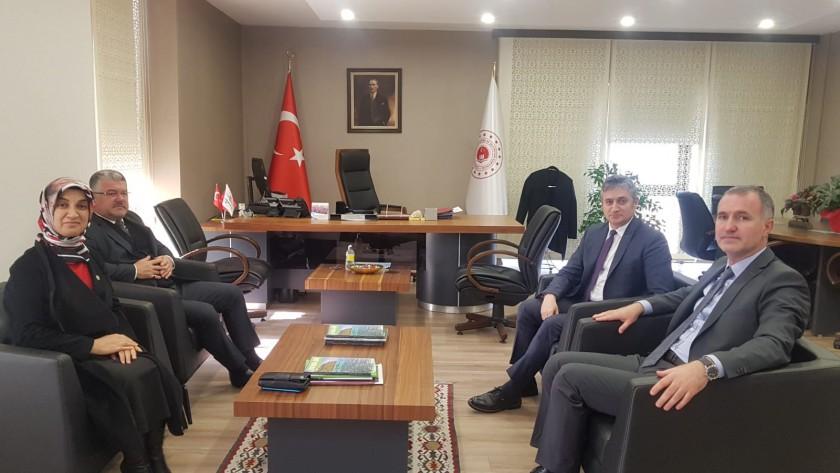 Sayın Vekilimiz Av. Vildan YILMAZ GÜREL ile İnegöl Belediye Başkanı Alper TABAN  dan İl Müdürümüze Ziyaret