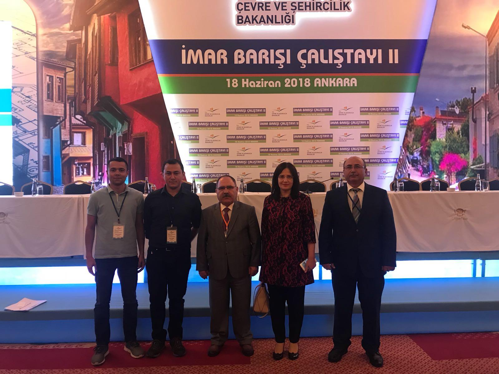 2. İmar Barışı Çalıştayı Ankara'da 18.06.2018 tarihinde yapılmıştır.