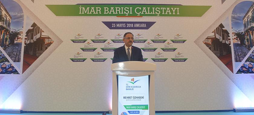 Bakan Özhaseki İmar Barışı Çalıştayı'nda İl Müdürlerine Düzenlemeyi Anlattı.