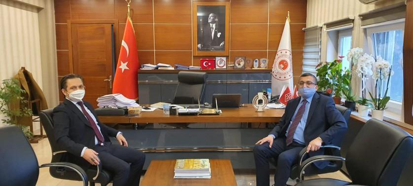 Çan Belediye Başkanı Bülent ÖZ, İl Müdürümüzü Ziyaret Etti