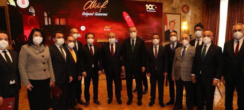 İstikal Marşımızın Kabulünün 100. Yılı, Türkiye Büyük Millet Meclisi'nde Kutlandı.
