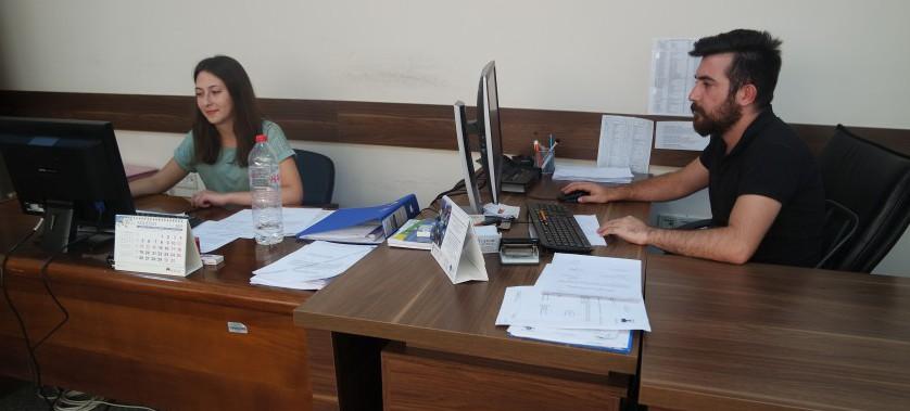 Müdürlüğümüzde 13 üniversite öğrencisi istihdam ettik