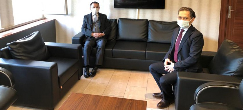 Vali İlhami AKTAŞ, İl Müdürümüz Bekir ÇELEN'i Ziyaret Etti