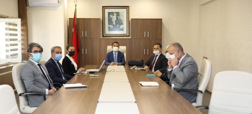 Vali İlhami AKTAŞ'a Müdürlüğümüz Çalışmaları Hakkında Brifing Verildi