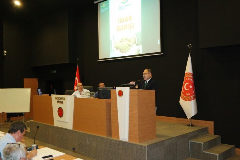 İl Genel Meclisi Üyelerine İmar Barışı Sunumu Yapıldı.