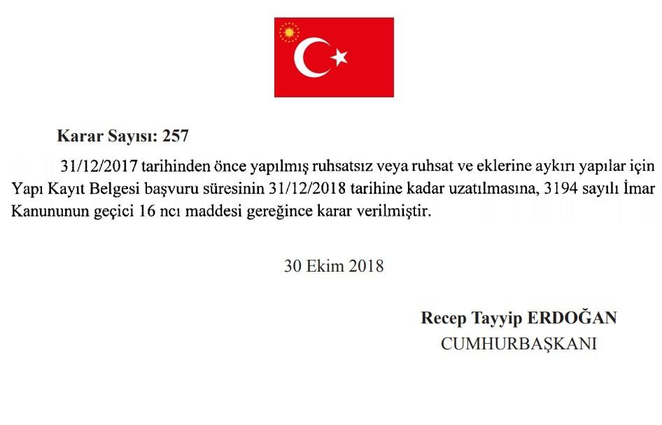 İmar Barışı Başvuruları 31.12.2018 tarihine kadar uzatıldı.