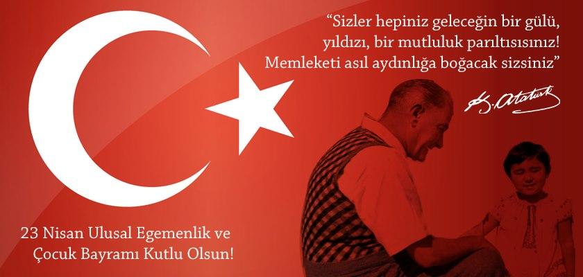 Türkiye Büyük Millet Meclisi'nin açılışının 98. yıldönümünü ve Ulusal Egemenlik ve Çocuk Bayramı'nı kutlarım. Ömer BOLAT İl Müdürü