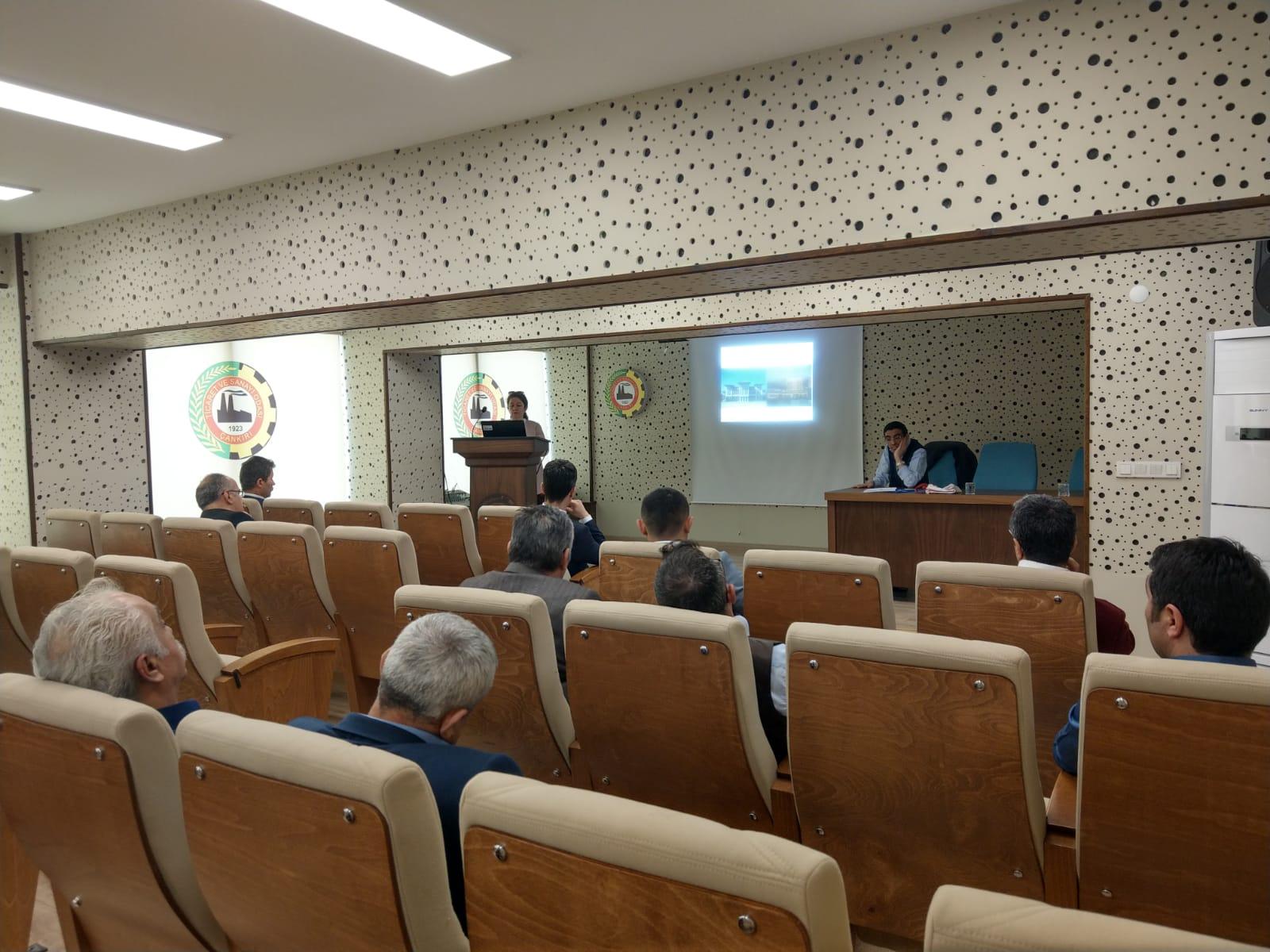Çankırı Sanayi ve Teknoloji İl Müdürlüğüne Sıfır atık projesi sunumu yapıldı
