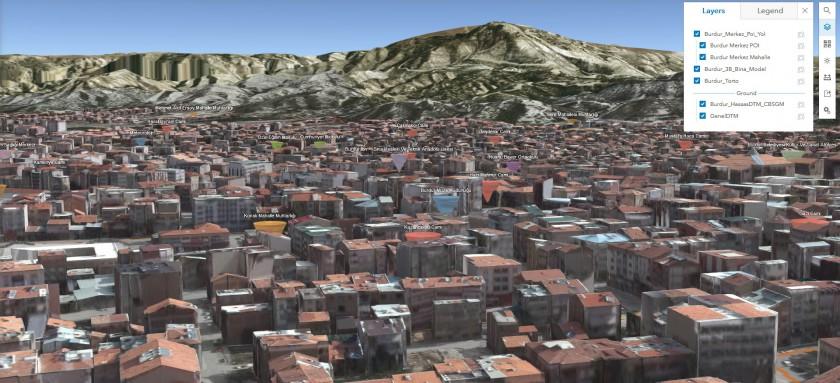 3B Bina ve Şehir Topografyasının Üretilmesi Projesi