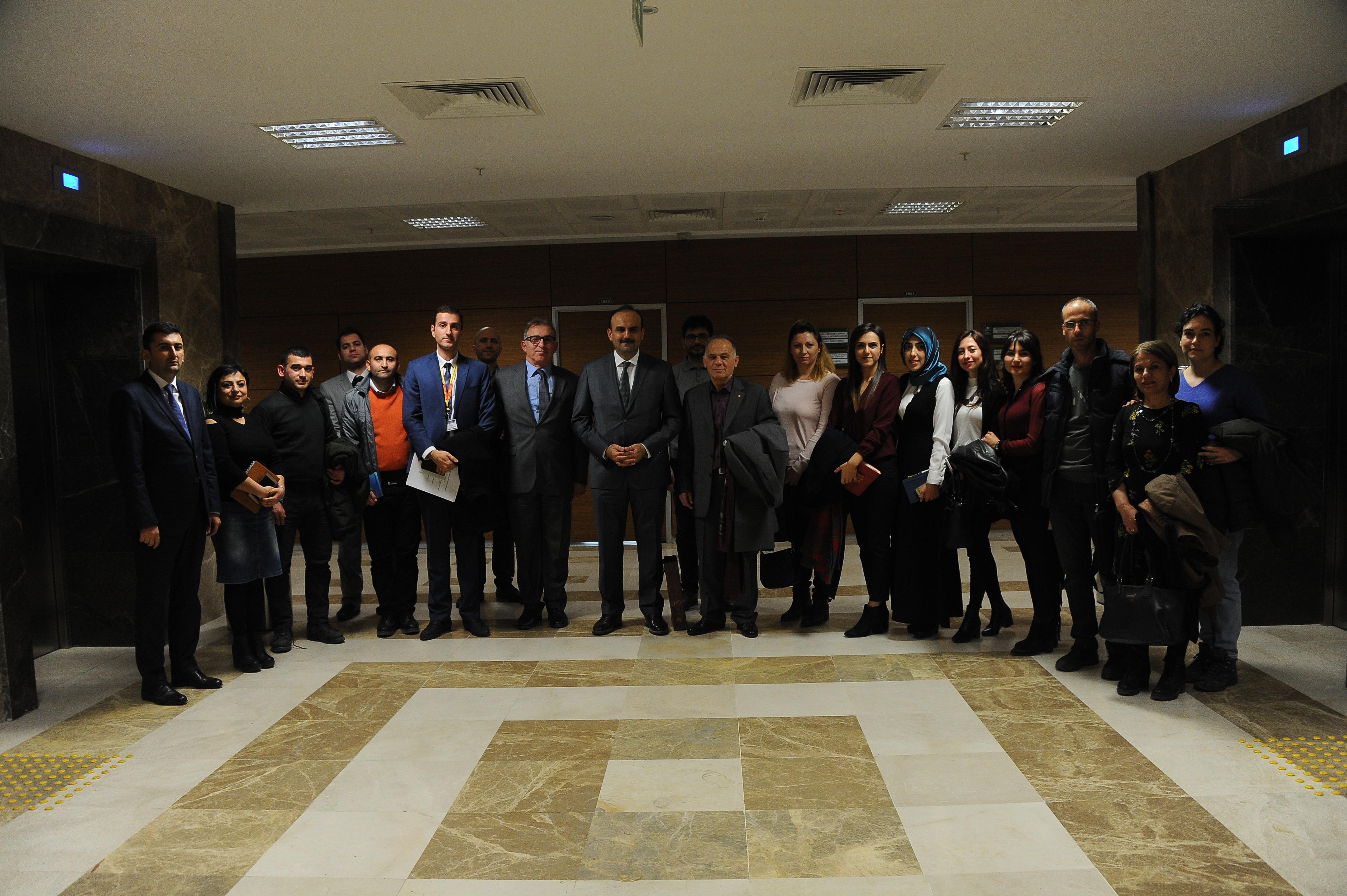 Ankara Üniversitesi Fen Bilimleri Enstitüsü Gayrimenkul Geliştirme ve Yönetimi Anabilim Dalı Başkanlığının Ziyareti.