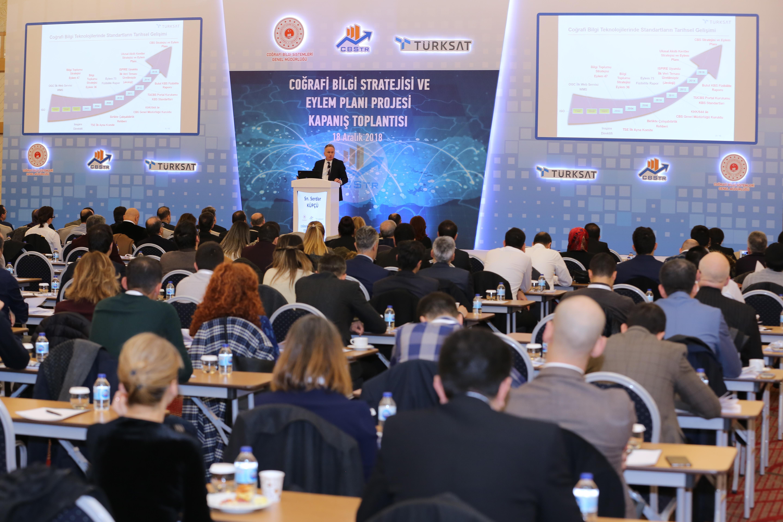 Coğrafi Bilgi Stratejisi ve Eylem Planı Hazırlanması Projesi Kapanış Toplantısı Yapıldı.