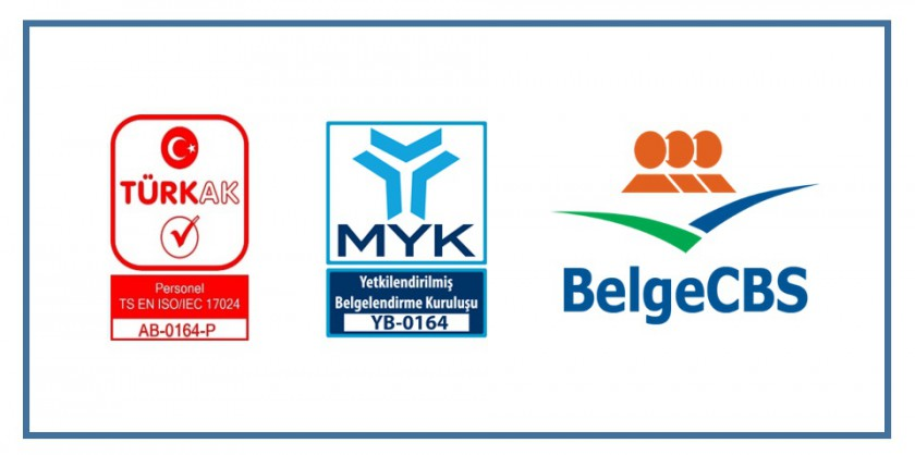 Genel Müdürlüğümüz Personel Belgelendirme Birimi (BelgeCBS) MYK Tarafından Sınav ve Belgelendirme Yapmak Üzere Yetkilendirildi.