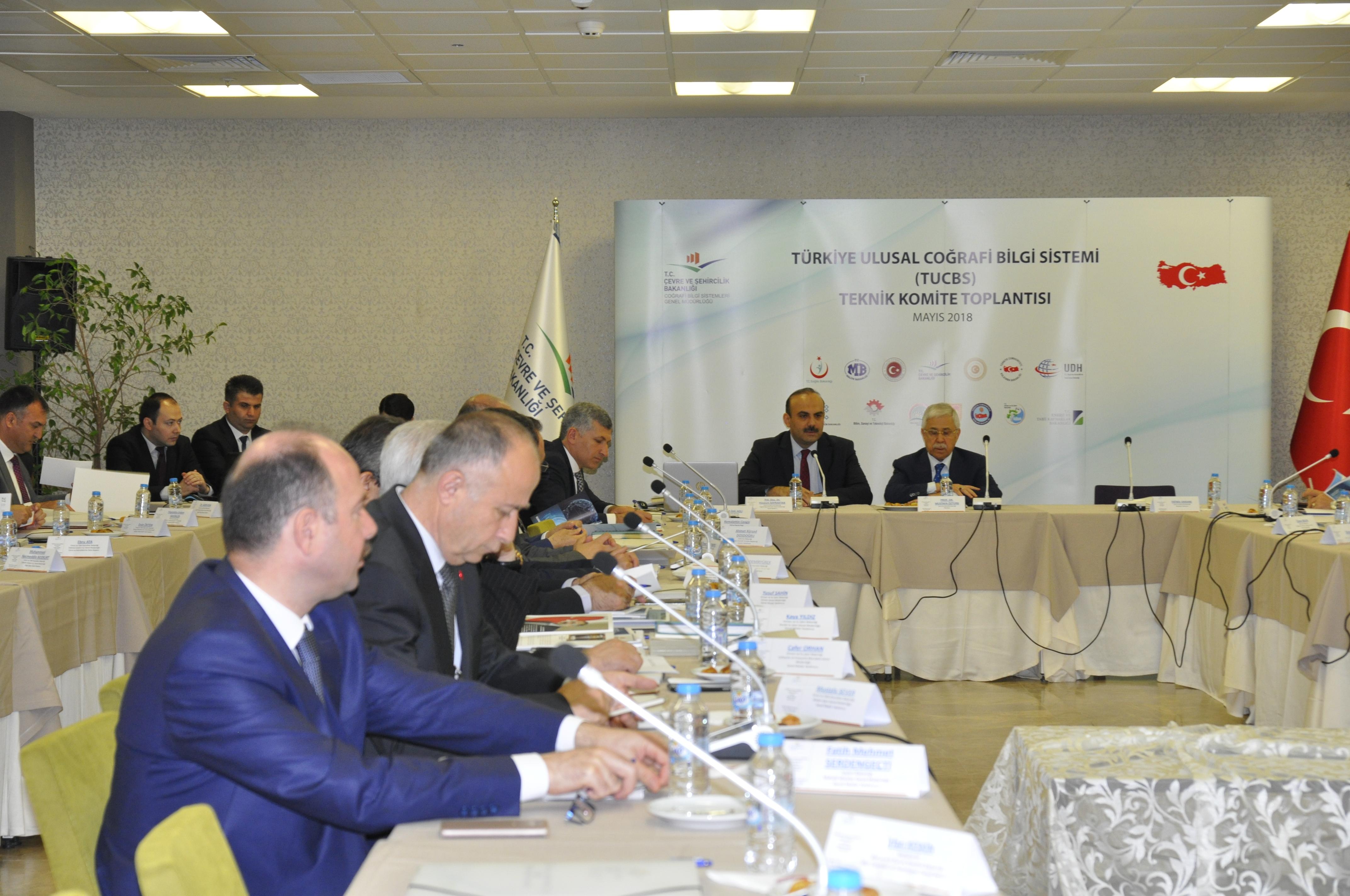 Türkiye Ulusal Coğrafi Bilgi Sistemi (TUCBS)  Teknik Komite Toplantısı Yapıldı.