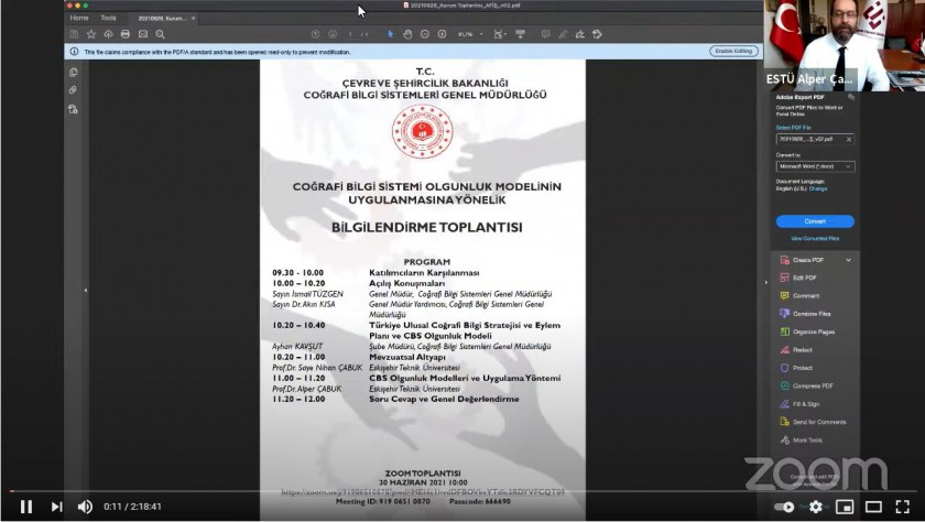 Ulusal Coğrafi Bilgi Sistemleri Olgunluk Değerlendirmesi Bilgilendirme Toplantısı 30 Haziran 2021 Tarihinde Yapıldı