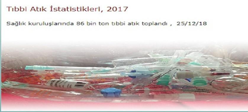 Tıbbi Atık İstatistikleri 2017 yayınlanmıştır.