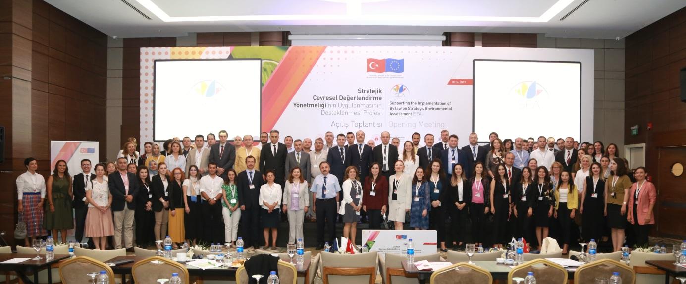 """""""Stratejik Çevresel Değerlendirme (SÇD) Yönetmeliği'nin Uygulanmasının Desteklenmesi Projesi"""" Açılış Toplantısı 18 Haziran 2019 tarihinde Ankara'da gerçekleştirilmiştir."""