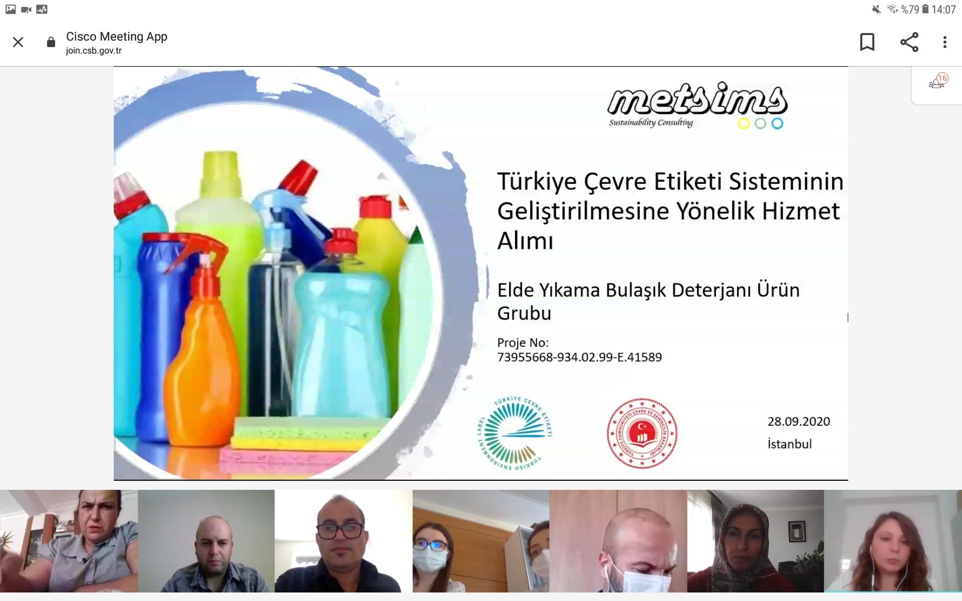 Elde Yıkama Bulaşık Deterjanı Ürün Grubu Çevre Etiketi Kriterlerinin Hazırlanmasına Yönelik Teknik İnceleme Komisyonu Toplantısı Gerçekleştirildi.