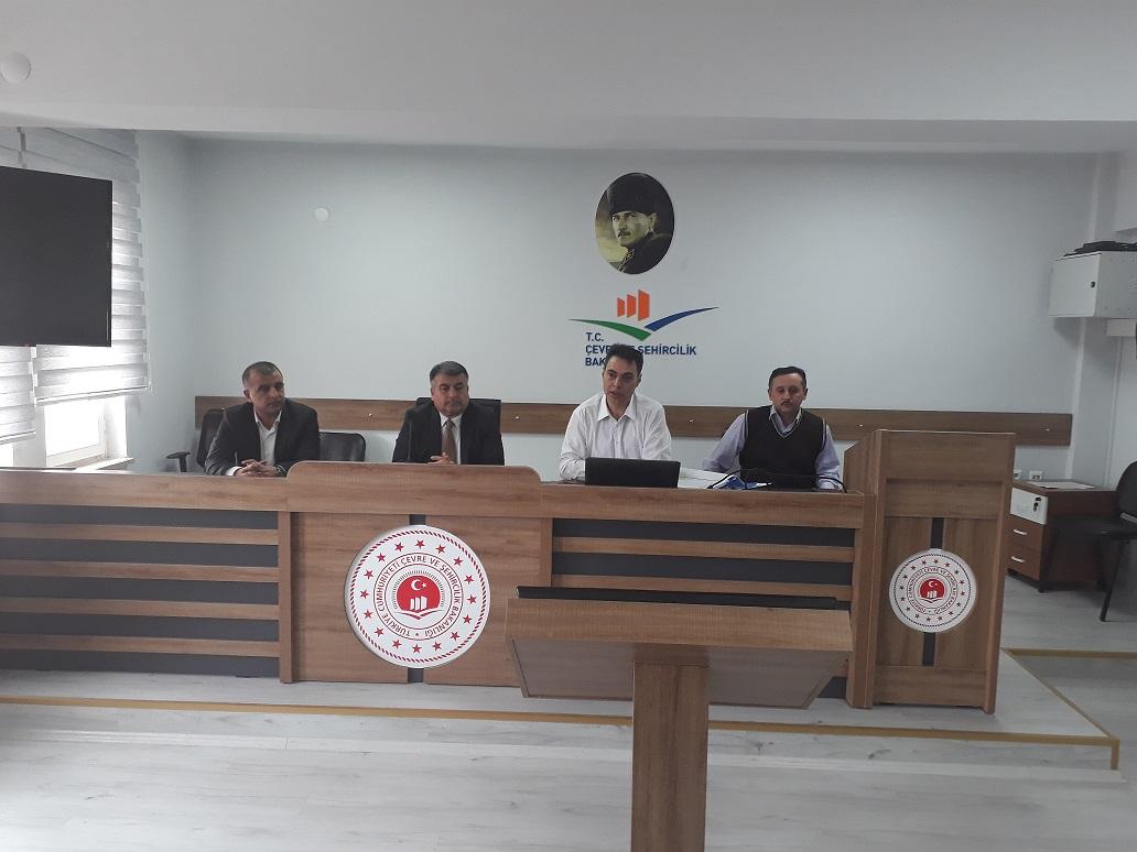 2020 Yılı TAMP ( Türkiye Afet Müdahale Planı) Yerel Düzey Hasar Enkaz Kaldırma Altyapı Hizmet Grupları Toplantısı Gerçekleştirildi.