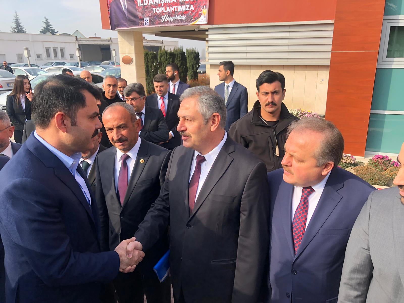 Çevre ve Şehircilik Bakanımız Sayın Murat KURUM, Bir Dizi Ziyaret ve İncelemelerde Bulunmak Üzere Çorum'a Geldi.