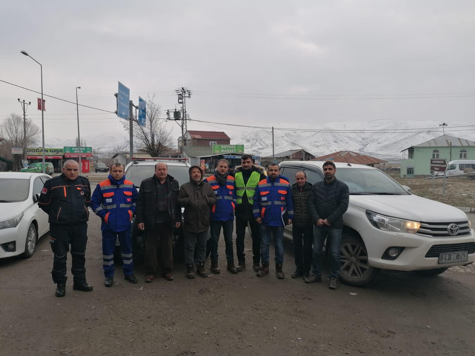 Elazığ-Malatya Deprem Bölgesinde Müdürlüğümüz Personellerinin de Görev Aldığı Hasar Tespit Çalışmaları…