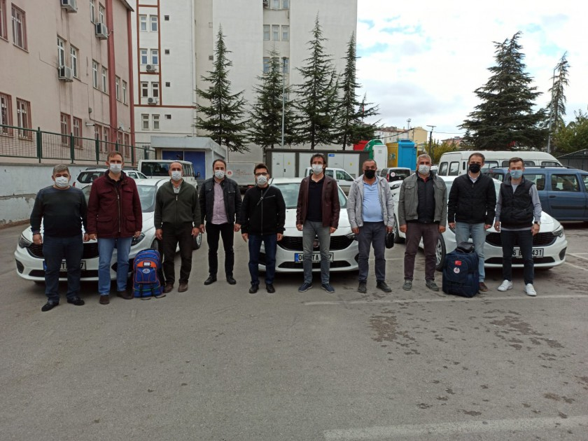 İzmir Depremi Sonrası Hasar Tespit Çalışmaları Yapmak Üzere Görevlendirilen Personellerimiz Deprem Bölgesine Hareket Etti.