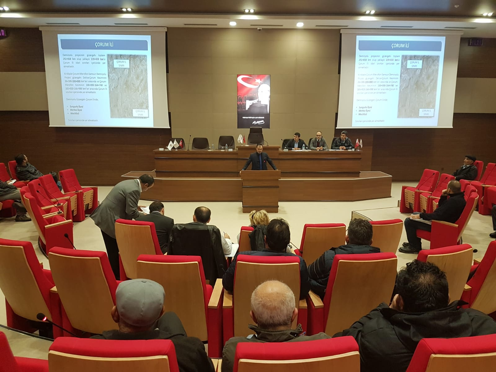 ''Kırıkkale-Çorum-Amasya-Samsun Demiryolu'' Projesi İçin 22.11.2018 Tarihinde Halkın Katılımı Toplantısı Yapılmıştır.