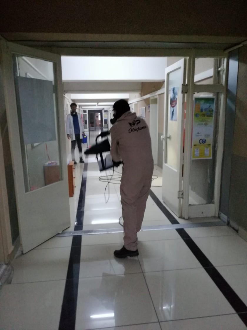 Koronavirüsle Mücadele Tedbirleri Kapsamında İl Müdürlüğümüzce Çalışma Alanlarımız ve Görev Araçlarımız Haftada Bir Kez Dezenfekte Edilmektedir.