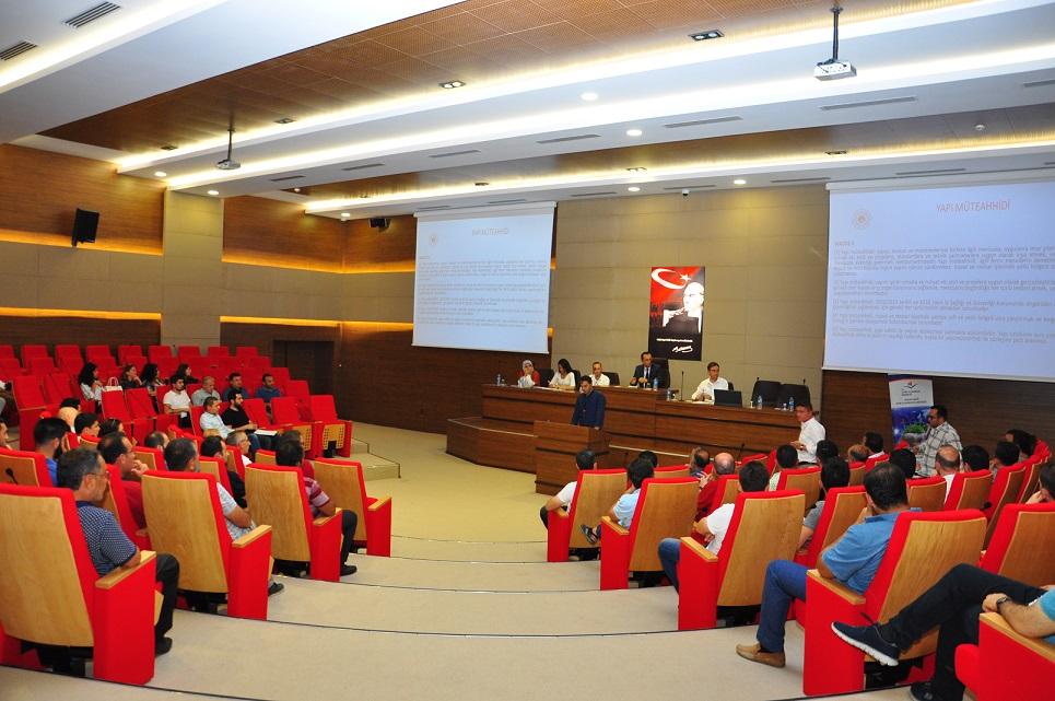 Müteahhitlik Yeterlilik Sistemi Hakkında Bilgilendirme Toplantısı Yapıldı.