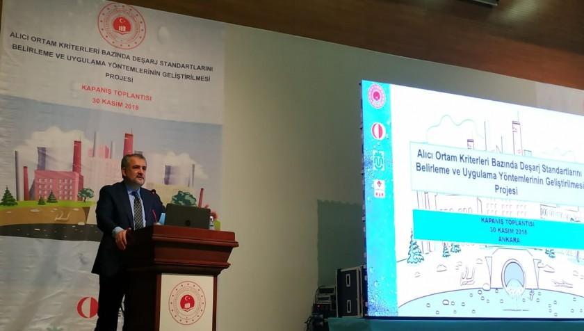Alıcı Ortam Kriterleri Bazında Deşarj Standartlarını Belirleme ve Uygulama Yöntemlerinin Geliştirilmesi Projesinin 30 Kasım 2018 tarihinde Kapanış Toplantısı gerçekleştirildi.