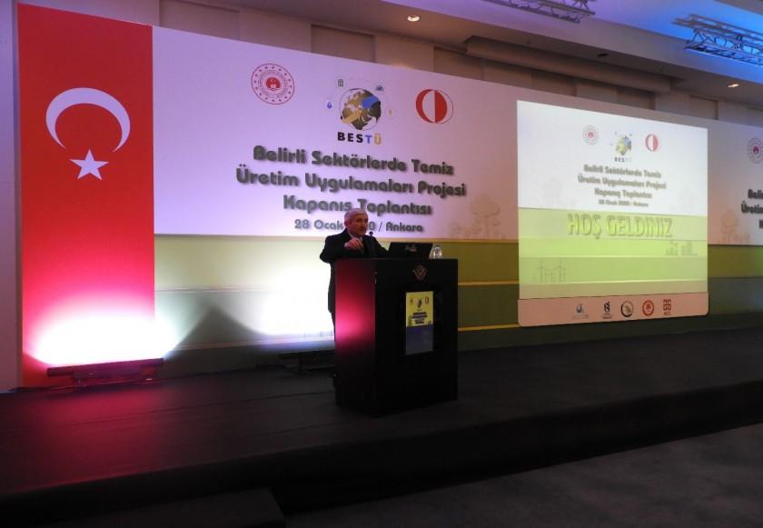 Belirli Sektörlerde Temiz Üretim Uygulamaları Projesi (BESTÜ) Kapanış Toplantısı Gerçekleştirildi.