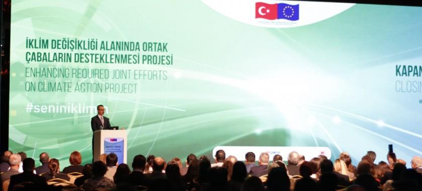 İklim Değişikliği Alanında Ortak Çabaların Desteklenmesi Projesi Kapanış Konferansı Gerçekleştirildi