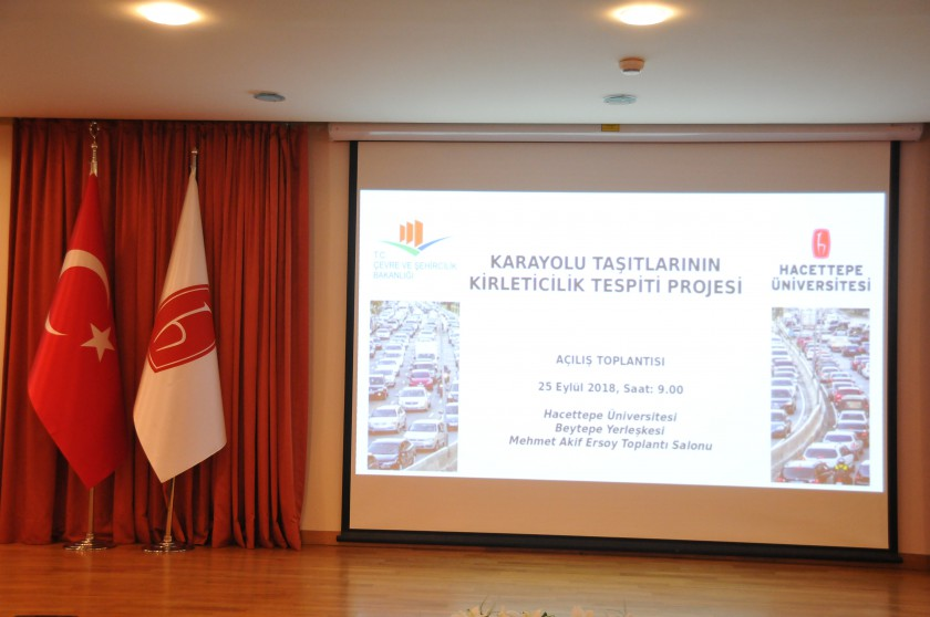 Karayolu Taşıtlarının Kirleticilik Tespiti Projesi Açılış Toplantısı 25 Eylül 2018 Tarihinde Ankara'da Yapıldı.