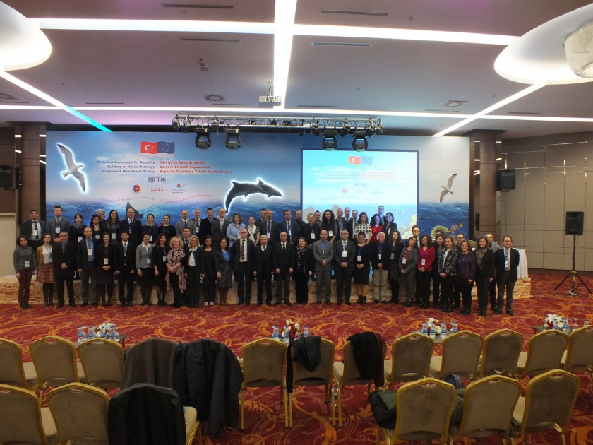 Türkiye'de Deniz Stratejisi Çerçeve Direktifi Konusunda Kapasite Geliştirme Projesi (MARinTURK) Kapanış Toplantısı Ankara/Holiday Inn Otel' de gerçekleştirildi.