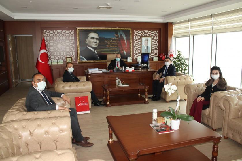 İl Göç İdaresi Müdürü Sayın Musa AŞILIOĞLU, İl Müdürümüz Sayın Engin ÖZTÜRK'ü Ziyaret Etti