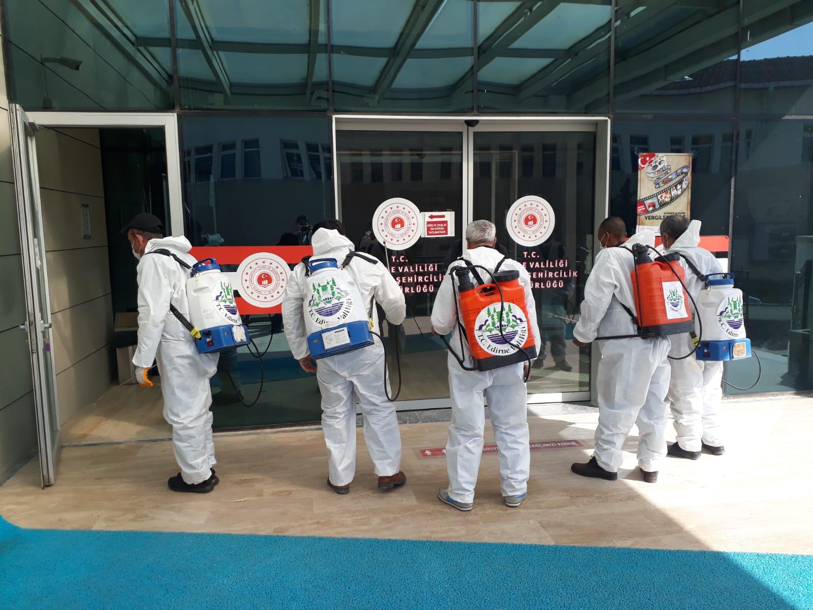 İl Müdürlüğümüz Hizmet Binasında Dezenfektasyon Çalışmaları Gerçekleştirildi