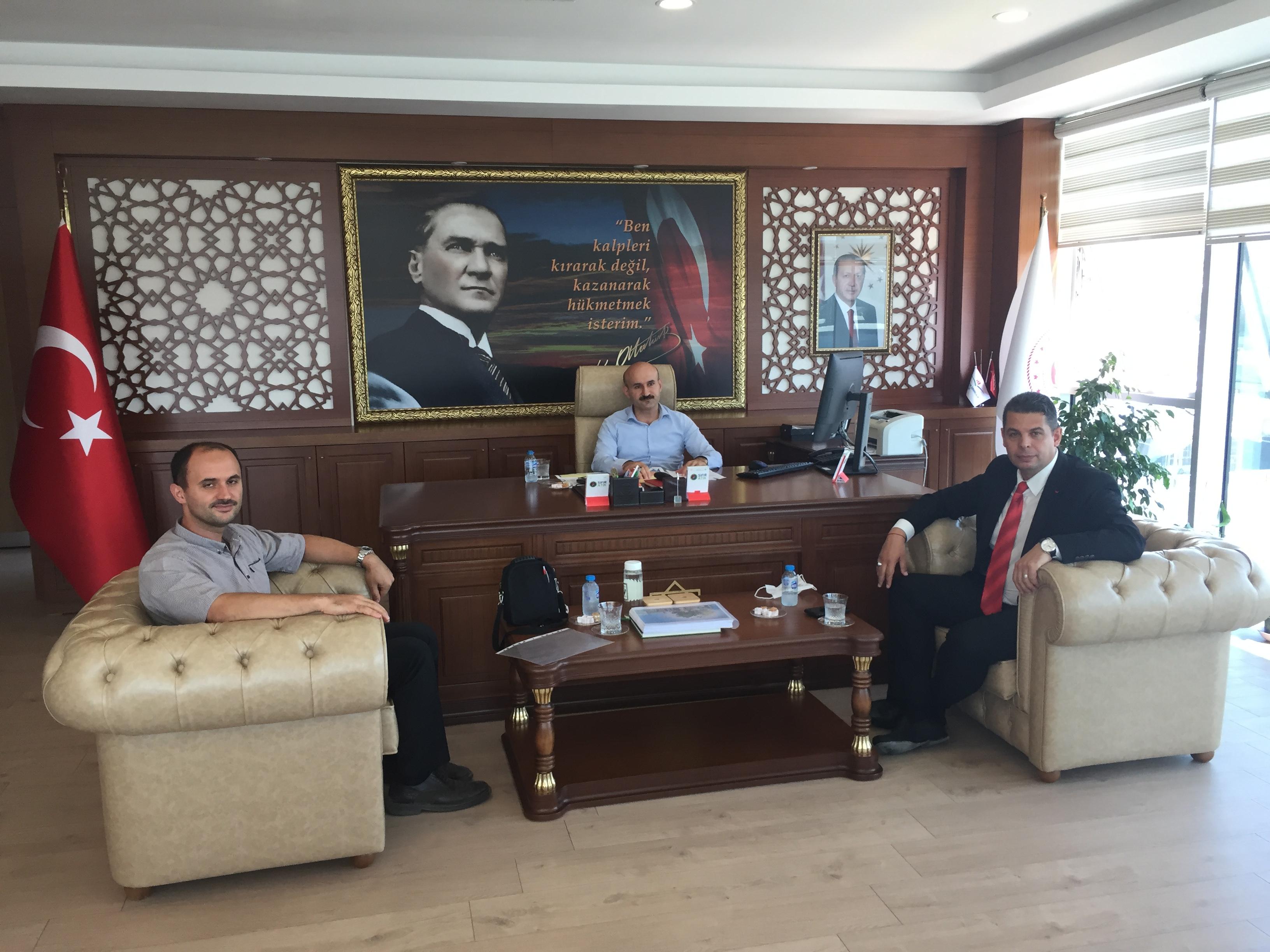 İl Sağlık Müdürü Sayın Dr İshak YILDIRIM ve Uzman Sayın Recep EKİNCİ İl Müdürlüğümüze Ziyarette Bulundular