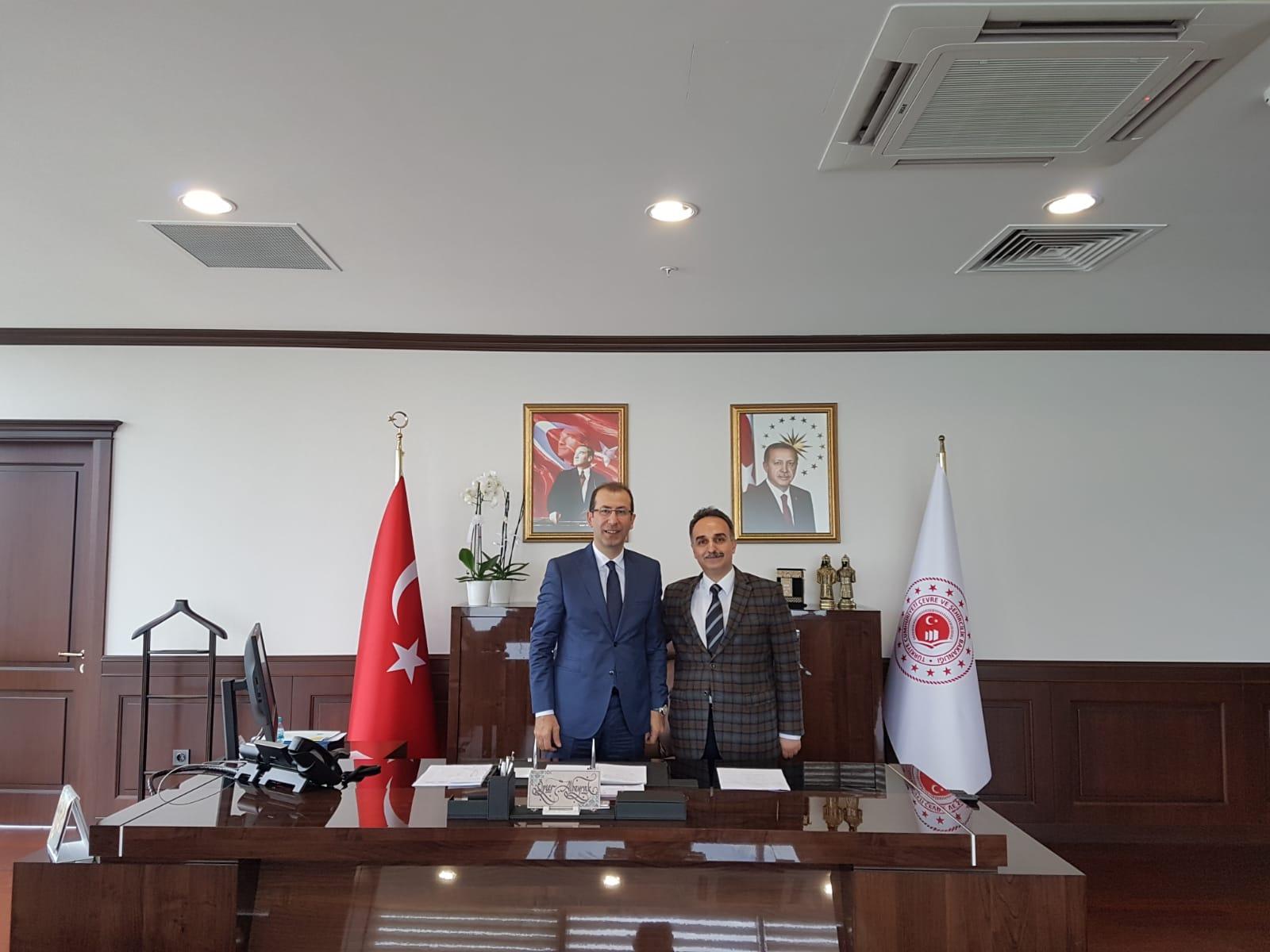 İzmir Çevre ve Şehircilik İl Müdürü Ömer ALBAYRAK'ı Ziyaret