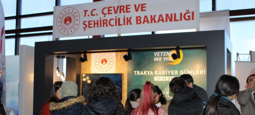 Çevre ve Şehircilik Bakanlığı Olarak Trakya, Güneydoğu ve Doğu Anadolu Kariyer Fuarı'nda Yerimizi Aldık
