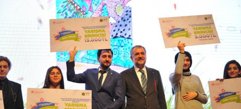 Geri Dönüştürülebilir Atık Yarışmasının Ödül Töreni Yapıldı