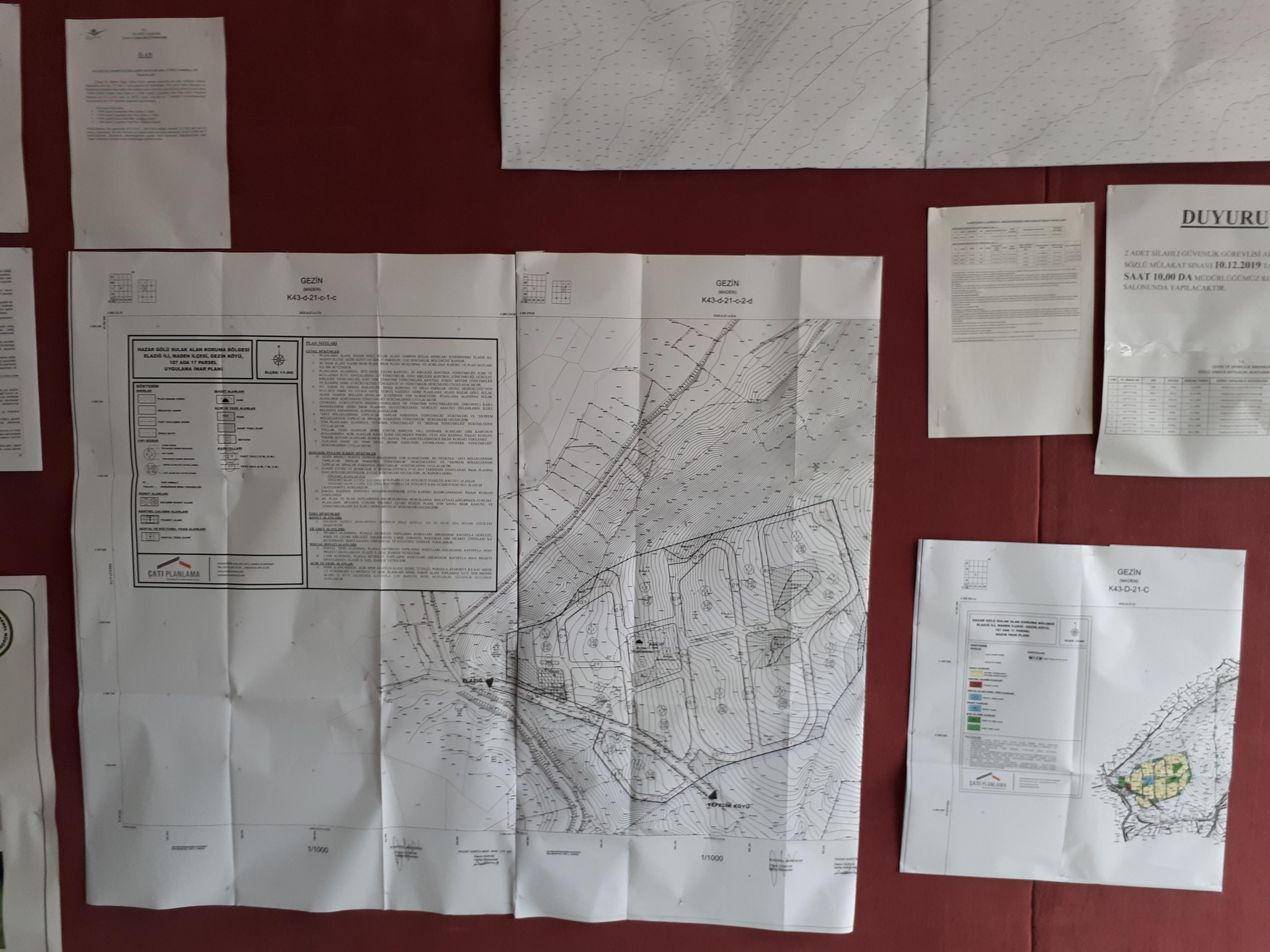 Elazığ İli, Maden İlçesi, Gezin Köyü 107 Ada, 17 Nolu Parsele Ait İmar Planı