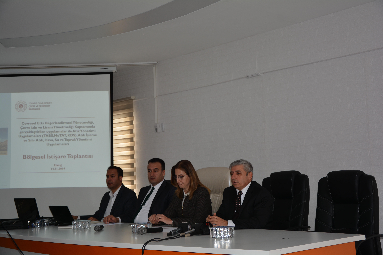 İlimizde 16 İlin Çevre ve Şehircilik İl Müdürlüklerinin Katılımıyla Bölgesel İstişare Toplantısı Yapıldı.