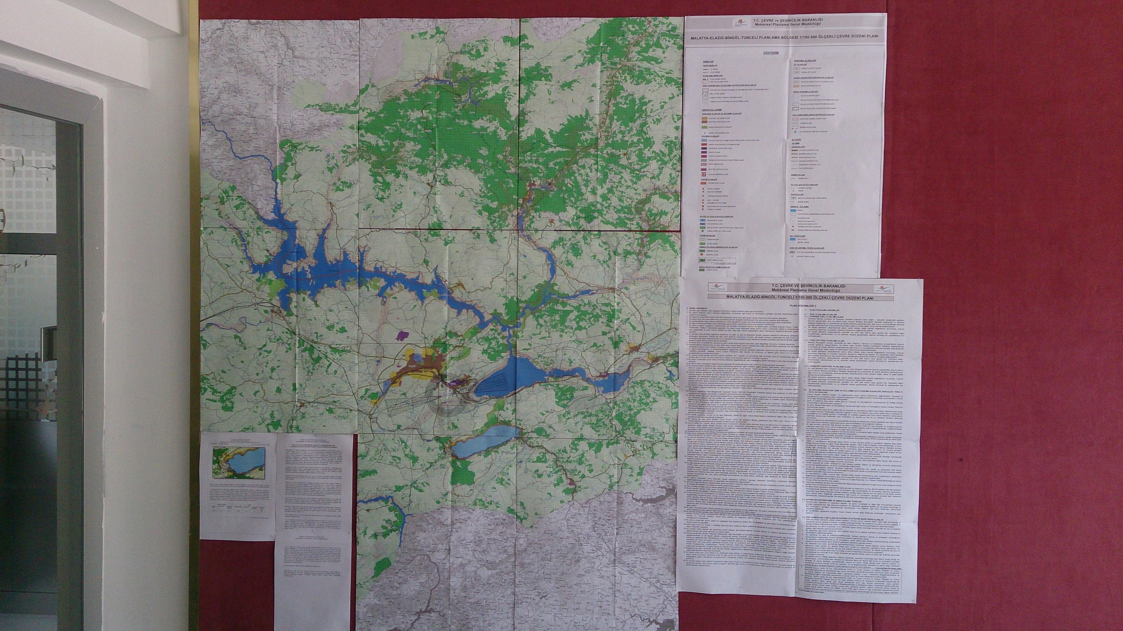 Malatya-Elazığ-Bingöl-Tunceli Planlama Bölgesi  1/100.000 Ölçekli Çevre Düzeni Planı Değişikliği