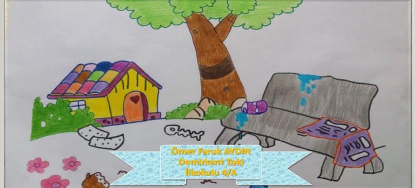 Demirkent Toki İlkokulu Öğrencilerinin 5 Haziran Dünya Çevre Günü Resim Çalışmaları